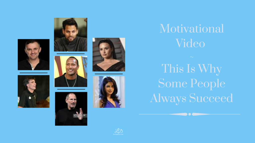 Motivational Video - This is why some people always succeed