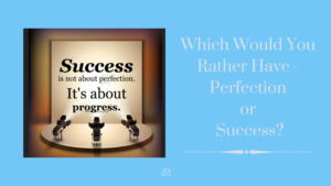 Which Would You Rather Have - Perfection or Success?